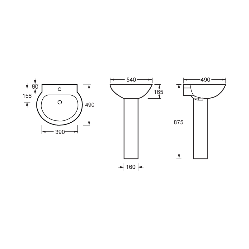 Full Pedestal Basin-LP9901